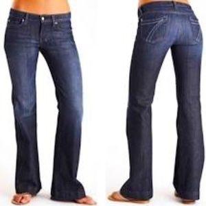 7 For All Mankind Dojo Jean Wide Leg 28